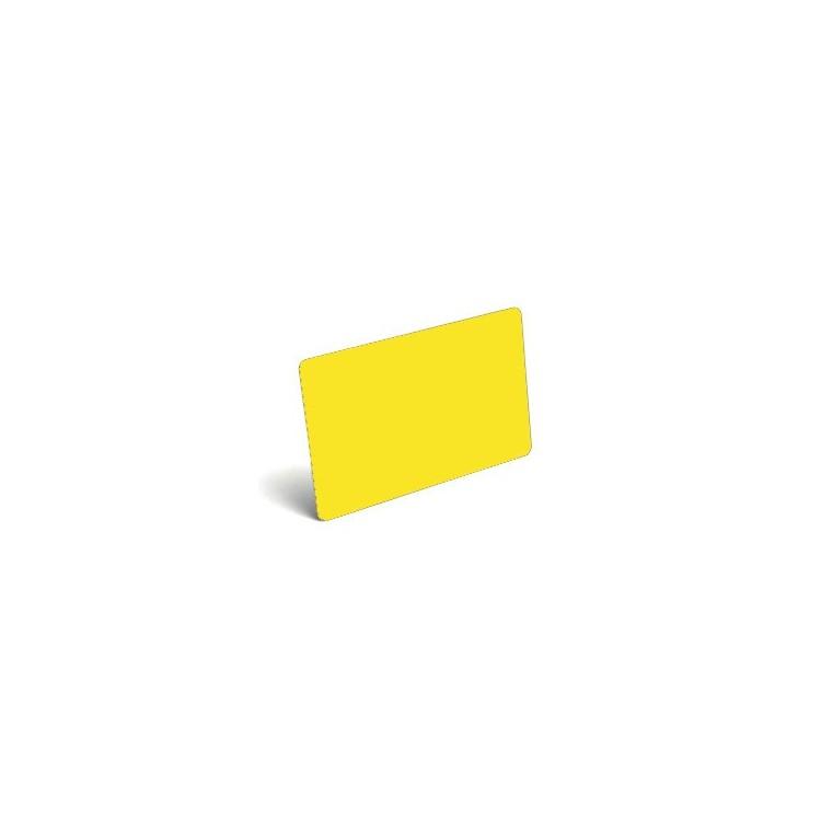 Karty plastikowe PVC żółte matowe