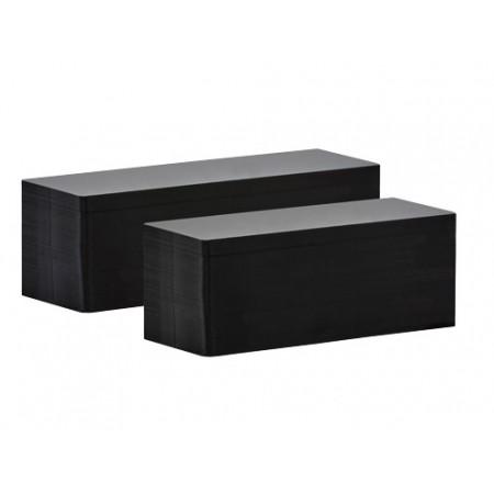 Karty plastikowe PVC czarne 120 mm x 50 mm - 100 szt