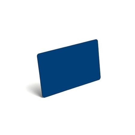 Karty plastikowe PVC niebieskie
