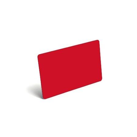 Karty plastikowe PVC czerwone