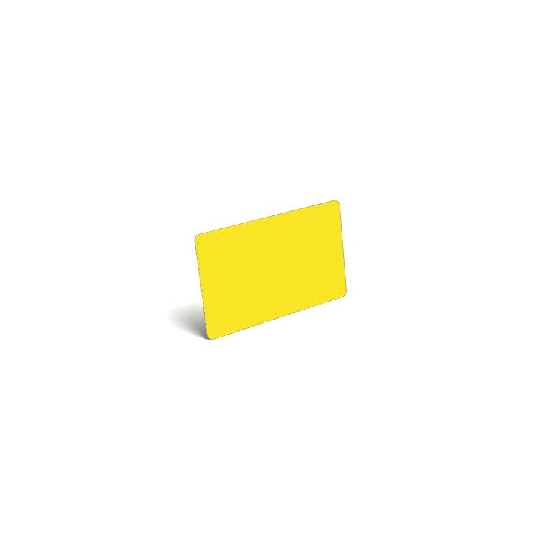 Karty plastikowe PVC żółte