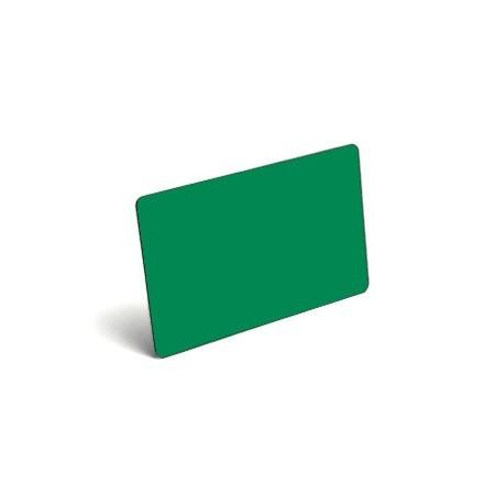Karty plastikowe PVC zielone