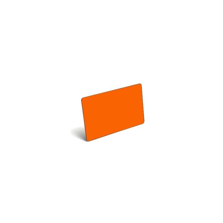 Karty plastikowe PVC pomarańczowe